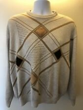 Org.Tuscan Made in Italy Mens CrewNeck Rare Sweater Merino Wool Blend XL
