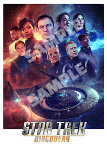 Star Trek Discovery - Cast Montage - A3 Poster
