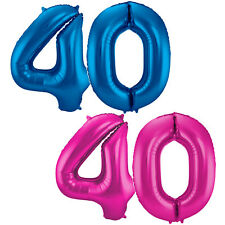 Folienballons Zahlenballons 86cm Deko zum 40. Geburtstag Jubiläum Luftballons