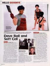 Hello, Goodbye Dave Ball & Soft Cell Magazine Cutting