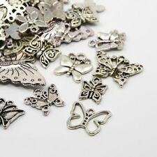 30g x Tibetan Silver Mixed Butterfly Charms Pendants - Antique Silver