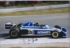 Jacques LAFFITE Signed RENAULT Ligier Gitanes 12x8 Photo AFTAL COA Autograph