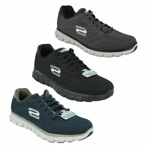 MENS SKECHERS SYNERGY FINE TUNE LACE UP CASUAL MEMORY FOAM TRAINERS SHOES 51524