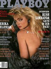 Playboy Magazine December 1993 Erika Eleniak Rush Limbaugh Marlon Brando
