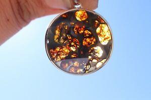 Meteorite Jewelry Sericho Meteorite pendant 925 silver Big star