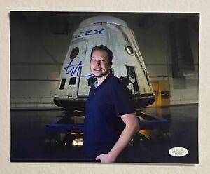 ELON MUSK Signed 8x10 Photo Autograph JSA LOA SPACE X / TESLA