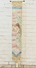 "PEACEFUL GUARDIAN ANGEL Tapestry Wall Hanging Bell Pull - 40""x6.5"""