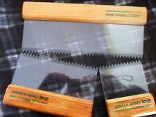 Set of 3 Artexing Mud Texture Drywall Comb Tools SERRATED Pattern Walls-Ceilings