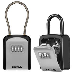 Outdoor Padlock 4&Digit Combination Password Key Lock Storage Safe Security Box