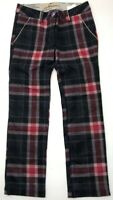 SCOTCH BELLE TARTAN RED DISTRESSED TROUSERS UNISEX SIZE 8 YEARS BUTTONSNEWTAGS