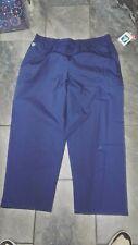 Nwt Adar Womens Plus Scrub Pants Navy Blue 3X