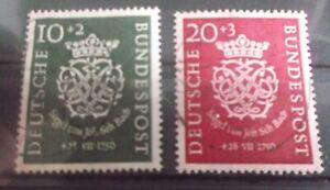 BRD  1950 Mi.Nr. 121/122 gestempelt