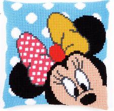 Peek-A-Boo Minnie Mouse trama grossa Cross Stitch Cuscino ANTERIORE KIT 40x40cm Vervaco