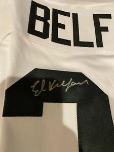 Ed Belfour Signed Autograph Chicago Blackhawks Custom Hockey Jersey  BAS Cert