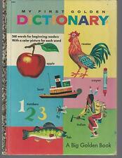 Big Golden Book  MY FIRST GOLDEN DICTIONARY   EX  1949/1957   RICHARD SCARRY