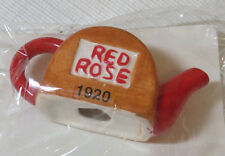 Tea Pot Miniature Red Rose 1920 Rose Tea RARE figure collectible spout NEW