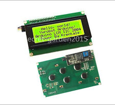 Yellow 2004 20X4  IIC I2C TWI  Character LCD Display Module For Arduino  OZ