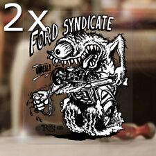 2x Stück Ford Syndicate Ed Roth Aufkleber Sticker Hemi Mopar V8 US Rat Fink