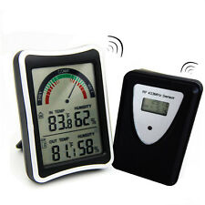 433MHz Wireless Weather Station LCD Digital Thermometer Humidity Indoor/Outdoor