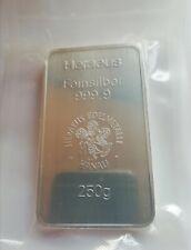 Silberbarren, 250g, der Firma Heraeus