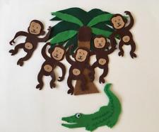 Five Little Monkeys Swinging in the Tree - Childrens Felt/Flannel Board Story