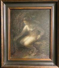 tableau ancien Ecole Symboliste Fin XIXème Siècle - Nu Féminin