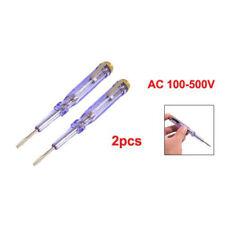 2 Stück Klar Blau Kunststoff-Griff Schlitz Schraubendreher 100-500V AC Spannung