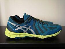 Mens ASICS Men's Gel-FujiAttack 5 Blue Trail Running Trainers - UK 10