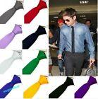 Fashion Stylish Men' Skinny Solid Color Plain Silk Party wedding Tie Necktie