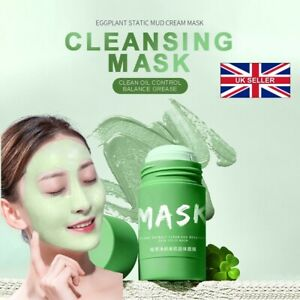 🇬🇧  2 X **New GREEN TEA Clay roll on Skin Mud skin Brightening Acne face mask