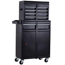 DURHAND 2 en 1 Caja de almacenamiento de la Herramienta de balanceo pecho parte superior gabinete 4 cajones con pegboar