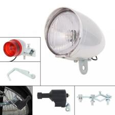 Universal Bicycle Bike Dynamo Front Headlight Rear Tail Light Light 6V 3W Set
