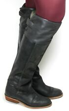 Damenstiefel Vintage Stiefel Leder Boots Langschaft Flats Bronx 38