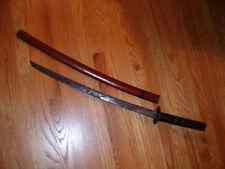 [S766] Japanese Samurai Sword:  Mumei Wakizashi in Koshirae