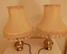 Vintage Pair Of Small Brass Table Lamps - Pineapple shaped