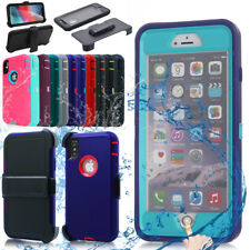 iPhone XS Max X 8 7 6 Plus Waterproof Shockproof DirtProof Heavy Duty Case Cover