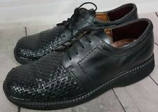 ECCO Men's 8-8.5 US / 42 Black Leather Oxford Lace-Up Comfort Casual Dress Shoes