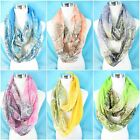 wholesale lot 5 pastel paisley retro infinity scarf women shawl wrap