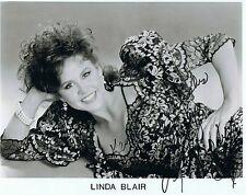 Linda Blair-original autografiada grande foto con coa