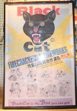 Vintage Black Cat Fireworks Poster
