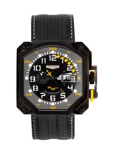 Rare Titan Squadron Black/Gray Face Automatic 46mm Men's Watch 1614NL0