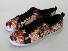 NEW! GUESS MALLORY WOMEN'S BLACK FLORAL PRINTED SNEAKERS SHOES 7.5 38 SALE