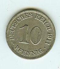 Deutsches Reich 10 Pfennig 1911 A