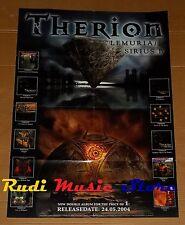 POSTER metal PROMO THERION LEMURIA / SIRIUS B 84X 59,5cm NOcd dvd vhs lp live mc