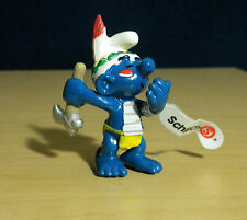 Smurfs Raindancer Smurf Indian Tomahawk Ax Figure Vintage Toy Lot Figurine 20552