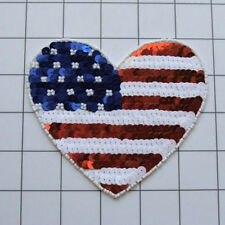 Fourth Of July Hear 000013D1 T Sequin Beaded Applique 2402-L