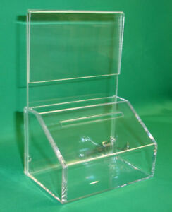 10  FUNDRAISING CHARITY DONATION BOXES WITH SIGN-HOLDER