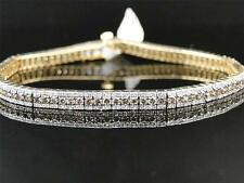 14k Ladies Yellow Gold Brown Champagne Cognac Crystal Tennis Bracelet 3.79 Ct