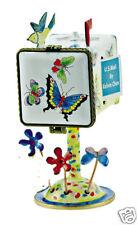 Kelvin Chen Enamel Copper Handpainted Tall Stamp Dispenser Holder - Butterfly
