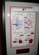 Official MLB score card w/Cory Lidle in lineup
